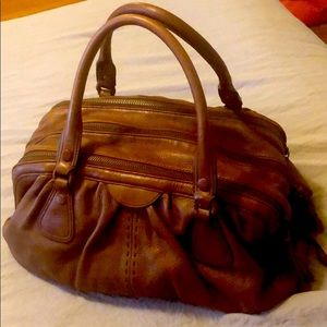 Cole Haan brown leather large satchel